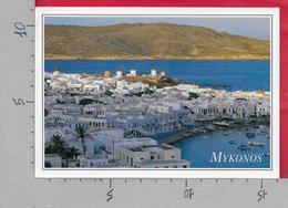 CARTOLINA VG GRECIA - MYKONOS - Panorama - 11 X 16 - ANN. 1988 - Grecia
