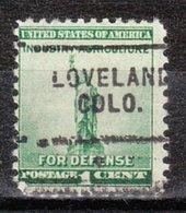 USA Precancel Vorausentwertung Preo, Locals Colorado, Loveland 703 - Vereinigte Staaten