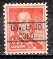 USA Precancel Vorausentwertung Preo, Locals Colorado, Loveland 802 - Vereinigte Staaten