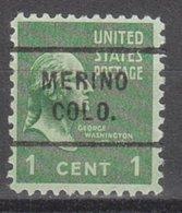 USA Precancel Vorausentwertung Preo, Locals Colorado, Merino 712 - Vereinigte Staaten