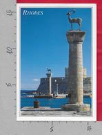 CARTOLINA VG GRECIA - RHODES - Imbocco Del Porto - 11 X 16 - ANN. 1991 - Grecia