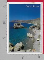 CARTOLINA VG GRECIA - CRETE SOUGIA - Spiaggia - 11 X 16 - ANN. 1992 - Grecia