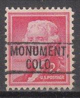 USA Precancel Vorausentwertung Preo, Locals Colorado, Monument 802 - Vereinigte Staaten