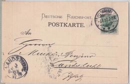 WAGHAÜSEL POSTKARTE NACH LANDSTUHL 1897 - BADISCHE GESELLSCHAFT FÜR ZUCKERFABRIKATION ZUCKER FABRIK SUCRE SUCRERIE - Allemagne