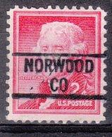 USA Precancel Vorausentwertung Preo, Locals Colorado, Norwood 839 - Vereinigte Staaten