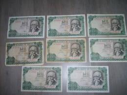 Lot De 8 Billets  De 1000 Pesetas 1971 Ayant Circulés - [ 3] 1936-1975 : Régence De Franco