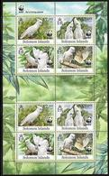 SOLOMON ISLANDS- 2012- WWF- BIRDS- COCKATOO- SHEET BLOCK OF TWO SETS - W.W.F.