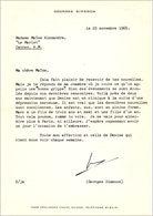 Lettre De Georges Simenon, 1965 - Autographs