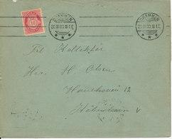 Norway Cover Sent To Denmark Drammen 30-3-1908 - Norway