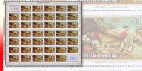 Rwanda 0331** 40c 50e Anniversaire De L'O.I.T - Feuille / Sheet De 40 - MNH - PIERRE BRUEGHEL + 2 Labels ! - Rwanda