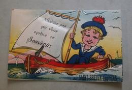 44 - SAINT-BREVIN-les-PINS - N'oubliez Pas Qui Vous Envoie Ce Souvenir - Carte Avec Dépliant - Saint-Brevin-les-Pins