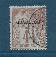 Colonie Timbre De Guadeloupe De 1881 N°16 Oblitéré - Oblitérés