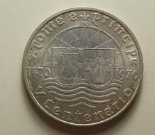 Portugal S. Tomé E Príncipe 50 Escudos V Centenário Da Descoberta Silver - Portugal