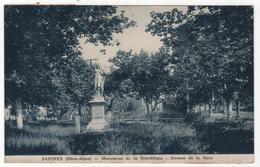 CPA 05 : SAVINES - Monument De La République - Avenue De La Gare  - 1942 - Andere Gemeenten