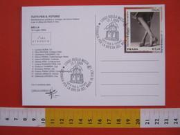A.08 ITALIA ANNULLO - 2004 BIELLA LAVORO PROFESSIONI GIORNATA PER LA DIFESA DEL MADE IN ITALY TESSILE MODA BATTISTERO - Tessili
