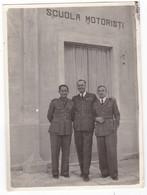 FASCISMO - SCUOLA MOTORISTI Di CAPUA - GUERRA - AERONAUTICA - 2 FOTO ORIGINALI - Guerra, Militari