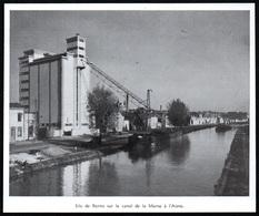 1952  --  SILO A REIMS SUR LE CANAL DE LA MARNE A L AISNE   3Q675 - Old Paper