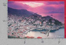 CARTOLINA NV GRECIA - HYDRA - Tramonto Sul Porto - 11 X 16 - Grecia