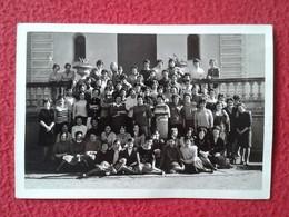 ANTIGUA FOTO FOTOGRAFÍA OLD PHOTO GRUPO DE MUJERES WOMEN'S GROUP ESPAGNE (CATALONIA) ? SPAIN CON DEDICATORIAS VER GIRLS - Personas Anónimos