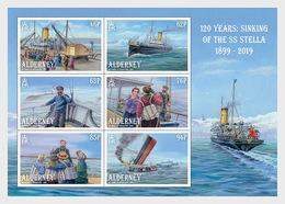 Z06 Great Britain 2019 Alderney 120 Years - The Sinking Of The SS Stella Miniature Sheet MNH Postfrisch - 1952-.... (Elizabeth II)