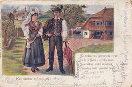 Slovenia Folklore Kranjska Narodna Nosa Postablage Pomozna Posta Tazen Tacenj - Slovenia