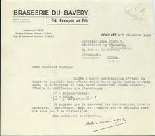 BRASSERIE DU BAVERY - FRANCOIS ET FILS COUILLET - 1900 – 1949
