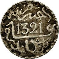 Monnaie, Maroc, 'Abd Al-Aziz, 1/20 Rial, 1/2 Dirham, 1903, Londres, TTB+ - Maroc