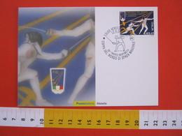 A.08 ITALIA ANNULLO - 2003 VERCELLI SCHERMA COPPA MONDO SPADA MASCHILE TROFEO BERTINETTI OLYMPIC HELSINKI 1952 MAXIMUM - Scherma