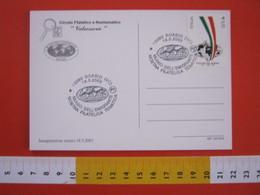A.08 ITALIA ANNULLO - 2003 ROASIO VERCELLI GLOBO GEOLOGIA TERRA MUSEO EMIGRANTE FILATELIA TEMATICA - Altri