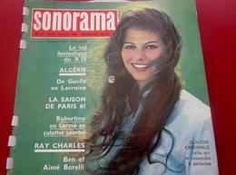 Magazine Sonorama N° 32-Août 1961-Musique Disque Vinyle Format Spécial Algerie-De Gaulle-Ursula Andress-Ray Charles-Pubs - Formats Spéciaux
