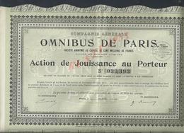 ACTION OMNIBUS DE PARIS 1935 : - Transports