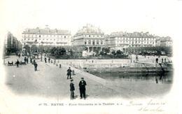 N°70027 -cpa Le Havre -place Gambetta Le Grand Théâtre- - Le Havre