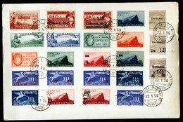 A5857) San Marino Pappunterlage Mit 23 Marken Gestempelt 22.01.59 - Usati