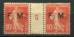 RC 11630 FRANCE FM N° 5 10c SEMEUSE FRANCHISE MILITAIRE MILLESIME 5  NEUF */** TB - Millesimes