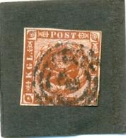 1858 DANEMARK Y & T N° 8 ( O ) Série Courante - 1851-63 (Frederik VII)