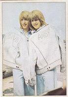 Andy & David Williams , The Williams Brothers - Panini Card From Yugoslav Rock Magazine Dzuboks ( Jukebox ) # 30 - Photos