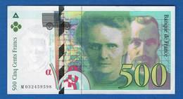 500 Fr  1995 - 1992-2000 Dernière Gamme