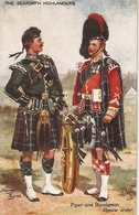 """""""Harry Payne. Piper And Bandsman"""" Tuck Oilette Scots Pipers. The  Seaforth Highlanders"""" Tuck Oilette PC # 3642 - Tuck, Raphael"""