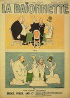 LA BAIONNETTE-1918-173-JOURNAL SATIRIQUE-UNE PARTIE DE CARTES ACHARNEE - Autres