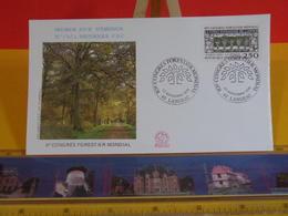 Congrès Forestier Mondial - 43 Langeac - 22.9.1991 FDC 1er Jour N°1763 - Coté 2,50€ - FDC