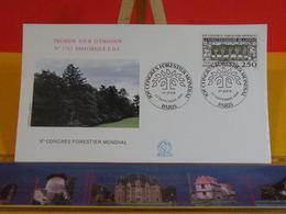 Congrès Forestier Mondial - Paris - 22.9.1991 FDC 1er Jour N°1763 - Coté 2,50€ - FDC