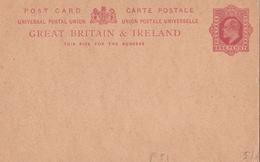 Gran Bretagna & Irlanda Intero Postale Non Viaggiato - Interi Postali