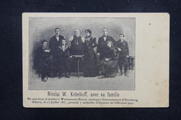 RUSSIE - Carte Postale - Nicolai W. Kobelkoff Avec Sa Famille Né Sans Bras Ni Jambes à Wosnesensk - L 22771 - Russie