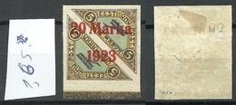 Estonia Estonie 1923 Michel 44 B B (brick Red OPT) 1,65 Mm * Signed K. Kokk - Estland