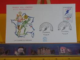 Jeux Olympiques D'hiver (La Flamme) - Paris - 14.11.1991 FDC 1er Jour N°1772 - Coté 2,50€ - FDC