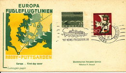Denmark - Germany Joint Issue Cover Bee-Line Paquebot Rödby - Fehmern 14-5-1963 With Cachet - Denmark