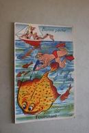 29 - Bonne Pêche... Harponnons-le Pour Voir FOUESNANT - Carte Avec Dépliant - Fouesnant