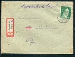 Deutsches Reich / 1945 / Mi. A 795 EF A. Reco-Brief Ex Chemnitz (7262) - Deutschland