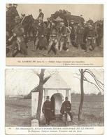 BELG. LEGER - ARM. BELGE -1914/18 - 2 KAARTEN - Guerre 1914-18