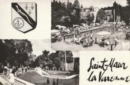 SAINT MAUR - LA VARENNE - CPSM 2 Vues : La Piscine - Le Golf - Saint Maur Des Fosses
